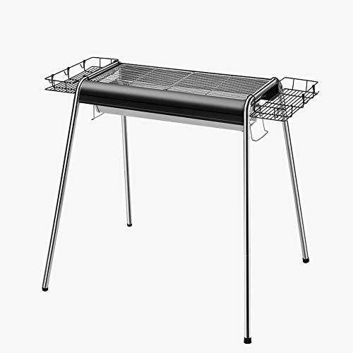 ZA Tragbarer, Faltbarer, Leichter BBQ-Herd, Barbecue-Holzkohlegrill, Edelstahlgrill für das Kochen im Freien, Camping-Picknicks, Heimgarten-Rasen-BBQ-Ausrüstung