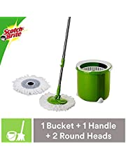 Scotch-Brite® Jumper Spin Mop with Round Refill Heads