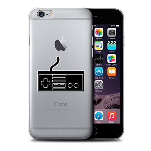 Stuff4 Hülle / Case für Apple iPhone 6 / Schwarz SNES Muster / Spielsteuerung Kollektion Schwarz NES