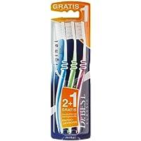 Dr.BEST Original Zahnbürste, Mittel (2 Stück + 1 Stück Gratis), Hilft, das Zahnfleisch zu schützen