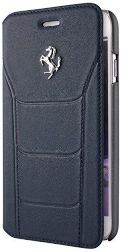 Ferrari FESEFLBKP6BU Debossed Leder Booktype 488 Kasten für Apple iPhone 6/6S 11,9 cm (4,7 Zoll) burgund blau