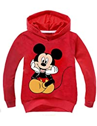 JUNMAONO Mickey Mouse Abrigo Niño Capa Casual Sudadera Cardigan Manga Chica Larga Remata Abrigo Chaqueta Puente