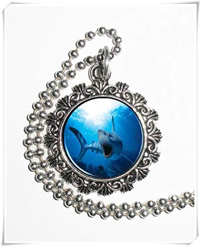 Leonid Meteordusche Anhänger mit blauem Haifisch Bilder und Anhänger, Reine Handarbeit (Zahn Halskette Haifisch Kinder Für)