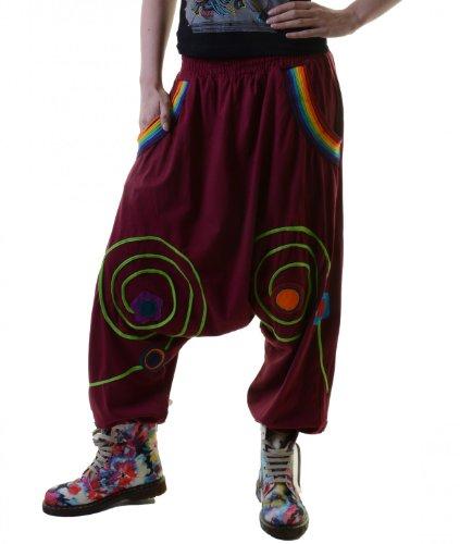 Ibiza Style Sarouelhose Hippie Haremshose Petrol