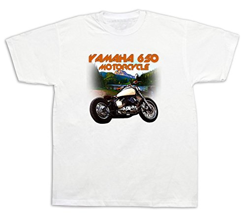 Motorcycle yamaha 650 lake Hot Rod Tshirts Vstar XS650 Classic 1100 custom