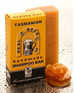 Belleza y las abejas Real cerveza barra de champú de Tasmania Australia...