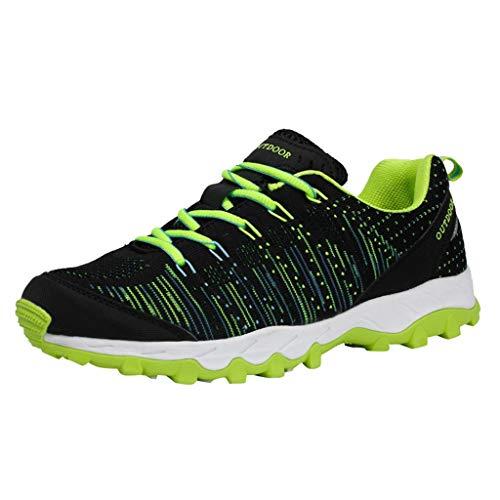 Herren Sneaker Schwarz Bequeme Laufschuhe Männer Running Fitness Textil Schuhe Low-Top Light Sportschuhe Turnschuhe Straßenlaufschuhe -