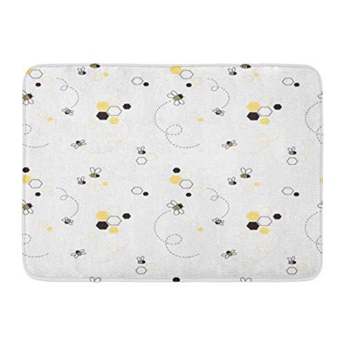 LIS HOME Fußmatten Bad Teppiche Outdoor/Indoor Fußmatte Kind Honey Bee Kid entzückende niedliche Grafik Baby Bienenstock Badezimmer Dekor Teppich Badematte