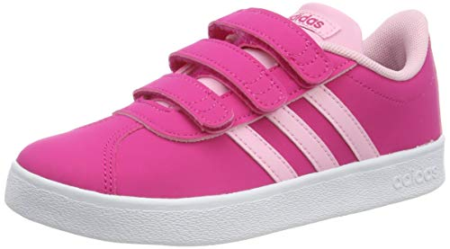 adidas VL Court 2.0 Cmf C C, Scarpe da Tennis Unisex Bambini, Rosso Real Magenta/True Pink/Ftwr White, 33 EU