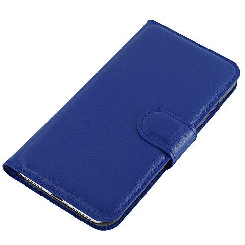 HANDYPELLE® PREMIUM Tasche für Apple iPhone 7 und 8 (4,7 Zoll / 11,9 cm) Bookstyle in Grün Blau