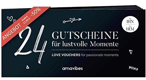 Premium Liebes-Gutscheinheft für Männer: 24 Liebesgutscheine, Partner-Geschenk für Freund, Partner <3 für mehr Erotik, Sex, Spaß & Liebe, besonders schön zu Weihnachten!