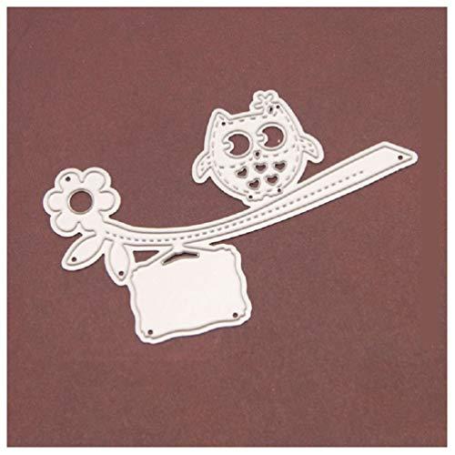 Katc Niedlichen Vogel Rahmen Eule Grenze Metall Stanzformen Dekorieren Scrapbooking Handwerk DIY Prägestempel für Papierkarten Schablonen - Eulen Grenze