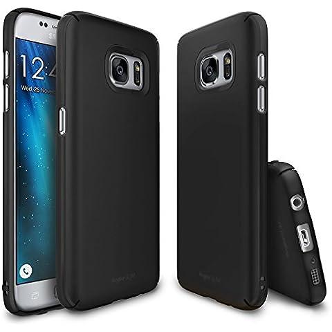 Funda Galaxy S7, Ringke [Slim] Cubierta ultrafina [cómodo ajuste] Lado esencial al lado del borde de la cobertura de recubrimiento superior, dura de la PC de la piel para Samsung Galaxy S7 - SF Black