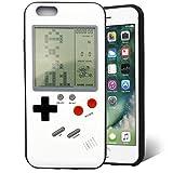 F-FISH Hülle für iPhone X / 6 / 6s / 7/8 Plus ABS+TPU Hülle Case Schutzhülle für Das Klassische Spiel [Gameboy] [Tetris] (iPhone 7/8 Plus, Weiß)