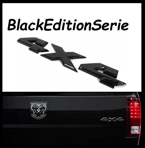 ve GmbH Black Edition Serie Emblem Schriftzug 4X4 / Größe 210mm x 32mm ()