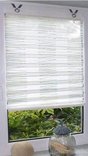 Dakar, tenda a pacchetto, plissettata, di colore bianco, con occhiellialtezza di 140 cm., tessuto, bianco, ca. 60 x 140 cm