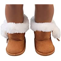 YUYOUG Doll Shoes Plush Winter Warm Snow Boots Shoes For 18 Inch Our Generation American Girl Dolls Mini Shoes