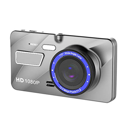 4 Inch Driving Recorder Car On-Dash Mounted Cameras LCD Display Video Camera Wide Angle (1x car Charger,1x Manual,1x Recorder, 1x Rear Lens),Shooting Angle : 140 Degrees,Pixel: 5 Million