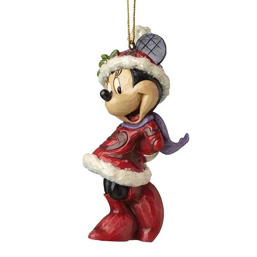 Enesco a28240 sospensione minnie natale, pvc, multicolore, 7x8x10 cm