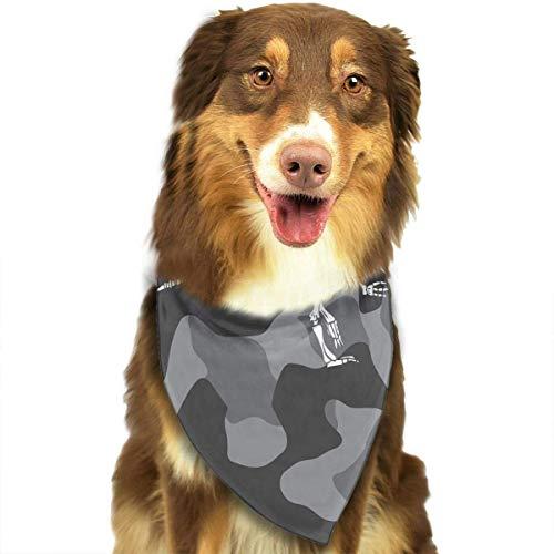 Hipiyoled Pet Bandana Bibs Pet Bandana Triangle Bibs Scarf Accessories for Dogs Cats Pets Animals (Camo Dinosaur Bone)