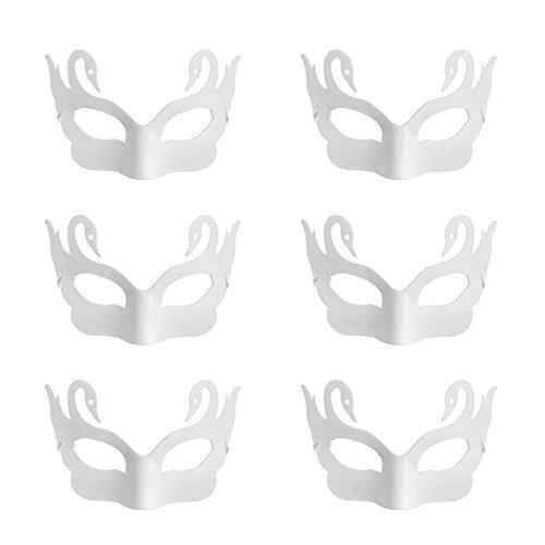 k DIY Masken Craft Papier Halloween Masquerade Maske Dekorieren Party Kostüm, Schwan, Einheitsgröße (Diy Halloween-kostüme Mime)
