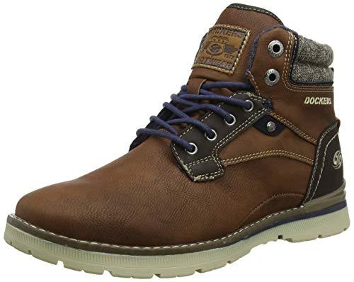 Dockers by Gerli Herren 43JU002 Hohe Sneaker, Braun (Cognac 470), 45 EU