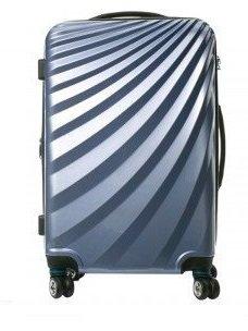VIVIANA Hartschalen Koffer Trolley in SILBER mit TSA Schloss Größe XLARGE