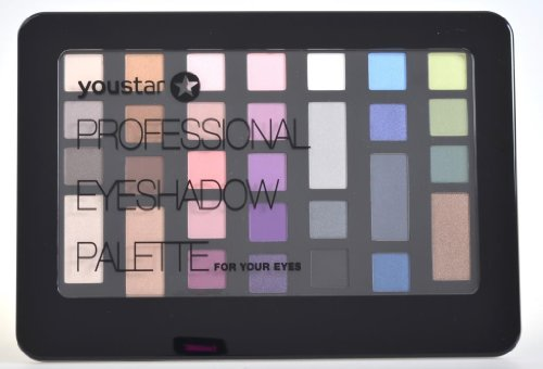 youstar Professional Eyeshadow Palette/Kosmetikkassette Make up Kit 30 Farben