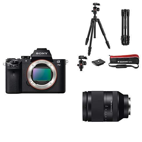 Sony ILCE-7M2 Appareil Photo Numérique Hybride Boitier Nu, Capteur Plein Format 35 mm, 24,3 Mpix, Stabilisation 5 axes + Manfrotto MKBFRTA4BM-BH Kit trépied de voyage Noir