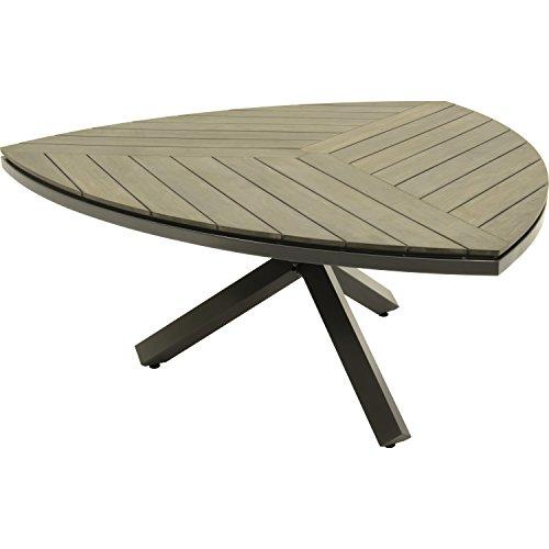 Tisch Tafel Esstisch Gartentisch Dock dreieckig antharzit/grau 170x170x75 cm hochwertig
