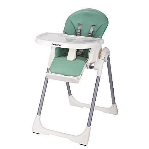 BEBEHUT® Kinderhochstuhl Babyhochstuhl Kinderstuhl Babystuhl Hochstuhl verstellbar 1801-D05 Lime Green