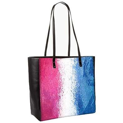 Color Splashes Abstract obo, Shoulder Bag Tote Faux Leather Handbag Satchel Tote