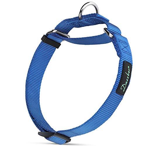 Dazzber Martingal Fuerte Collares para Perro Grande/Mediano / Pequeño, Ajustable - Resistente - No Escapatoria - Color Sólido - Nylon Collar de Perro de Seguridad