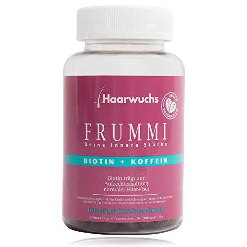 Frummi | Haarvitamine | fördert natürlichen und schnellen Haarwuchs | vermindert Haarausfall | vegan | hochdosiert (Natürliche Vitamine Für Haar-wachstum)