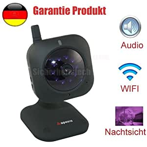 mini netzwerk drahtlos wireless wifi wlan ip kamera ir audio infrarot ir nachtsicht camera. Black Bedroom Furniture Sets. Home Design Ideas