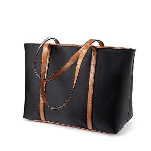Shopper Damen groß, handtasche Damen Große Arbeit Handtaschen Gross Nylon Schultasche, Desigual Umhängetasche für Einkaufen Arbeiten Reisen-Schwarz