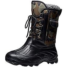 Eagsouni® Homme Bottes de Neige Hiver Chaudes Outdoor Chaussures de  Randonnée Boots de Pluie Caoutchouc abf8ed49535f