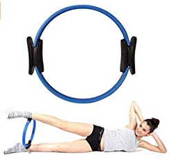 Futurekart Yoga Pilates Resistance Exercise Ring Circle for Core Strengthening, Full Body Toning & Fitness Workouts,Set of 1 Color May Vary