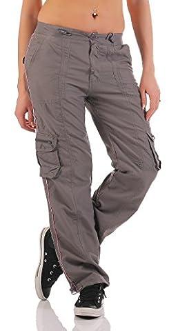 SUCCESS Damen Cargo Hose Casual Wear Chino Stoff Hose 5