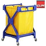 Carro de lavandería plegable Clim Profesional®. Carro plegable para uso en lavandería, hospitales, hoteles, hostales o residencias. Con lona resistente de 200 litros