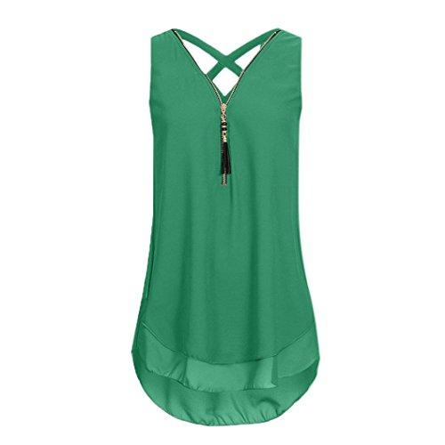IMJONO Damen stehkragenbluse Shirtbluse schlupfblusen flanellbluse kurzarmblusen Baumwollbluse blusenshirts Jeansbluse Streifenbluse chiffonblusen Wickelbluse (Armeegrün,EU-42/CN-XL)