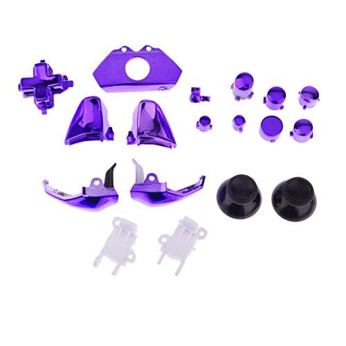 Ensemble de 18 Remplacement Boutons du Contrôleur Kit pour Xbox One - Violet