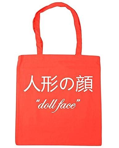 HippoWarehouse ???? 'Doll Face' Tote Shopping Gym Beach Bag 42cm x38cm, 10 litres