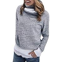 Hanomes Damen pullover, Frauen Winter Zipper Langarm Flanell Sweatshirt Pullover Tops Bluse preisvergleich bei billige-tabletten.eu