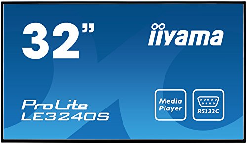 "iiyama ProLite LE3240S-B1 80cm (31,5"") Info-Display IPS Panel Full-HD USB Mediaplayer (VGA, DVI, HDMI, 8ms, 12Std/7) Schwarz"