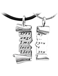 Silver Love Letter Couples Sweethearts Lovers Pendant Chain Necklace for women teenage girls,with a Gift Box, Ideal Gift for Birthdays / Christmas / Wedding---Model: X12603