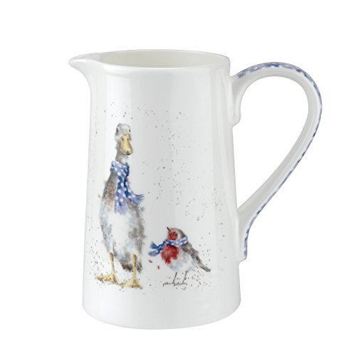 Wrendale Jug (Duck & Robin) Royal Worcester Fine Porcelain