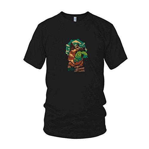 Mutant Fallout Super Kostüm - Super Mutant Dog - Herren T-Shirt, Größe: XXL, Farbe: schwarz