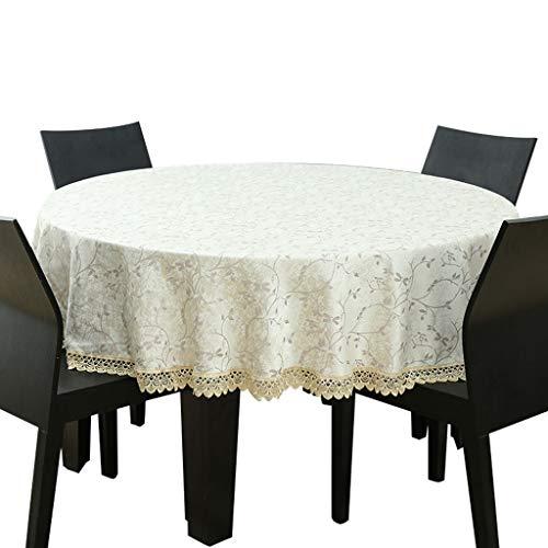INTER FAST Europäische Konferenztischdecke Tischdecke Stoff zu Hause Esstischdecke 1,2 Meter Runde Wohnzimmer große Runde Tisch frische Tischmatte Praktische Tischdecke (Size : 160cm)