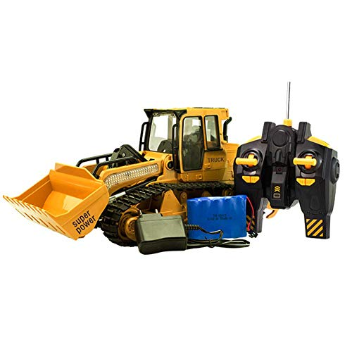 1:12 RC ferngesteuerter Bagger Baustellen-Fahrzeug, Modell mit viele Metallbauteile, schwenkbarer Schaufel Radlader, Ready-To-Drive